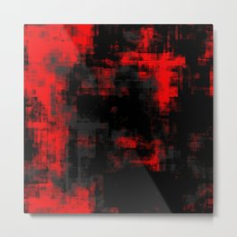 Black Gray and Red Abstract 77 Metal Print