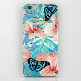 Tropical Spring Aqua iPhone Skin