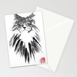 chat montagne Stationery Cards