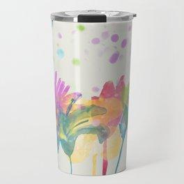 dp059-1 Watercolor flowers Travel Mug