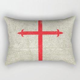 Templar Cross Rectangular Pillow