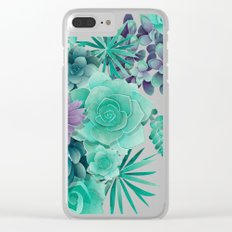 Succulent Love I Clear iPhone Case