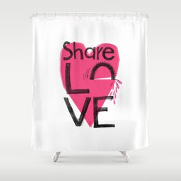 Share love Shower Curtain