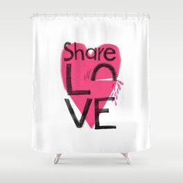 Share love Shower Curtain