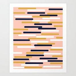 Britt - Modern pattern design perfect cell phone gift for trendy modern college dorm room decor Art Print