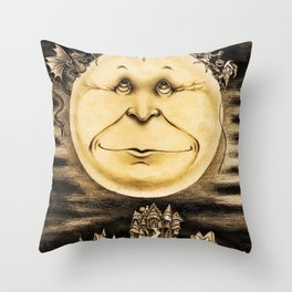 Mind Of The Moon Throw Pillow