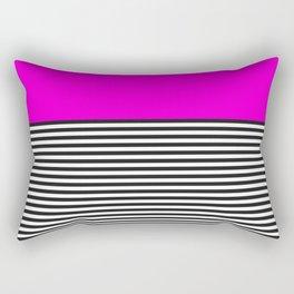 STRIPE COLORBLOCK {PINK} Rectangular Pillow