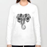 henna Long Sleeve T-shirts featuring Henna Elephant by Kaitlyn Koehn