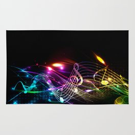 Music Notes in Color Rug