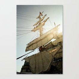 Tall Ship in Boston Harbor Canvas Print