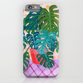 Monstera Houseplant Painting iPhone Case