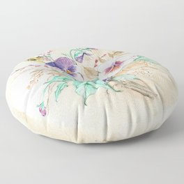 Pansies Bouquet Floor Pillow