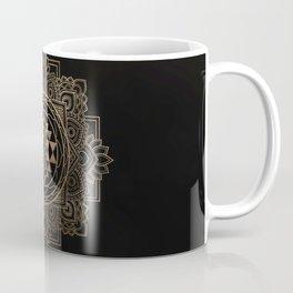 Sri Yantra  / Sri Chakra in golden lotus Coffee Mug