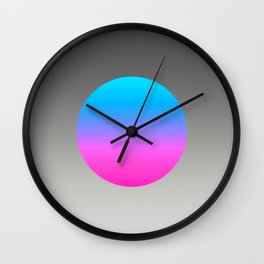 Turquoise Hot Pink Focal Point Wall Clock
