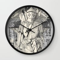 knight Wall Clocks featuring Knight by Tshirt-Factory