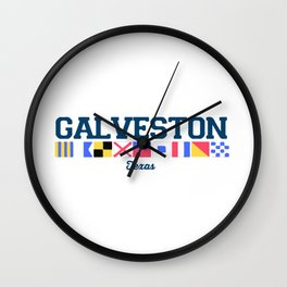 Galveston Texas. Wall Clock