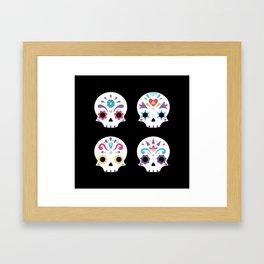 Cute sugar skulls B Framed Art Print