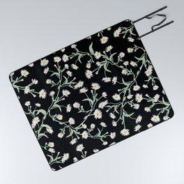 Oxeye (Black) Picnic Blanket