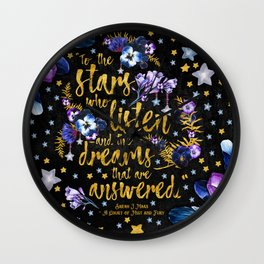 A Court of Mist and Fury - To The Stars Wall Clock