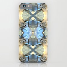 Blue And Gold Pattern iPhone 6s Slim Case