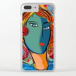 Pop Portrait of the week-end Clear iPhone Case