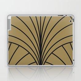 Diamond Series Floral Burst Charcoal on Gold Laptop & iPad Skin