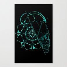 Skull Mandala Dark Canvas Print