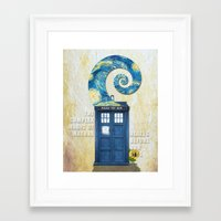 tardis Framed Art Prints featuring TARDIS by Cloysterbell