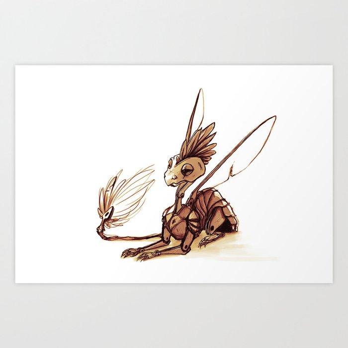 robot dragon art print by nyssashaw society6