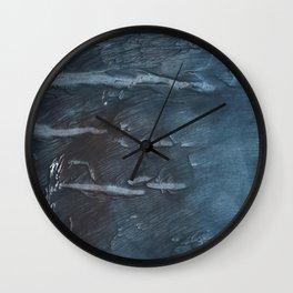 Dark slate gray colorful watercolor Wall Clock