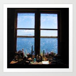 Window to the Water Art Print