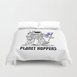 planet hoppers Duvet Cover