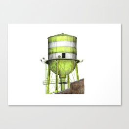 Montreal's Water Tower (Lachine Canal) Canvas Print