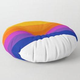 Bright Rainbow / Straight Floor Pillow