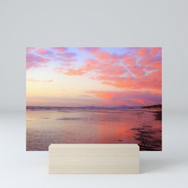 Looking Northwest on the Beach at Sunset by Reay of Light Mini Art Print