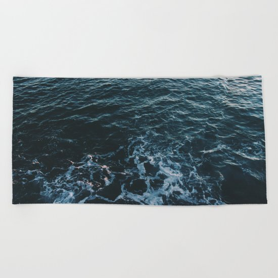 Dark #Sea Beach Towel