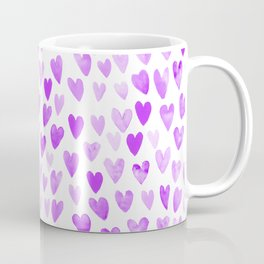 Watercolor Hearts purple pantone love pattern design minimal modern valentines day Coffee Mug