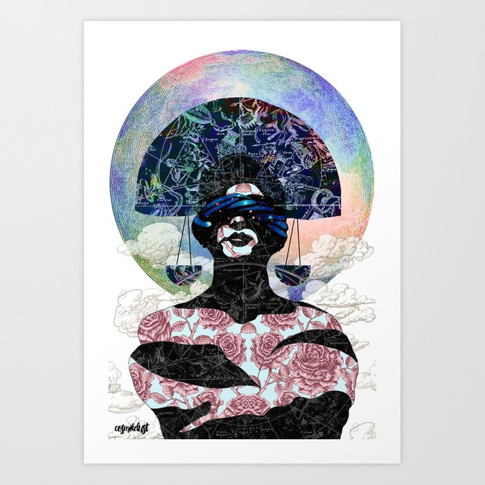 Libra (zodiac series 1) Art Print