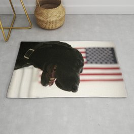 All-American Black Labrador Rug