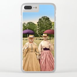 Two Pretty Kitties: Out for a Stroll Clear iPhone Case