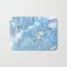 The Chasers - Seagulls In Flight Bath Mat