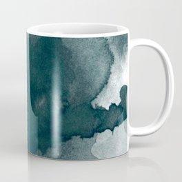 Dark Green Watercolor Marble Coffee Mug