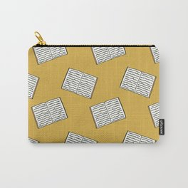 Open Book Pattern (Mustard) Carry-All Pouch