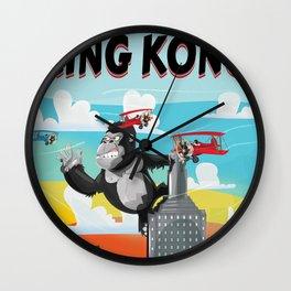 King Kong Poster Wall Clock