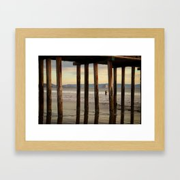 Looking Deeper Morro Bay through Cayucos Pier Framed Art Print