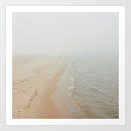 Where the Surf Meets the Sand | Muskegon, MI Art Print