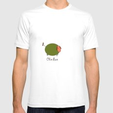 Olive Ewe. White MEDIUM Mens Fitted Tee