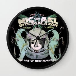 Michael Intergalaxon (Color) Wall Clock