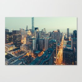 Downtown Chicago at Dusk Canvas Print