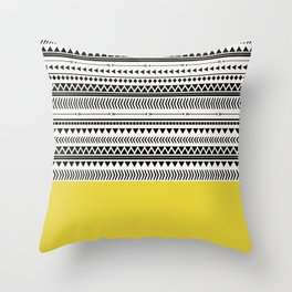 AZTEC AND CHARTREUSE Throw Pillow